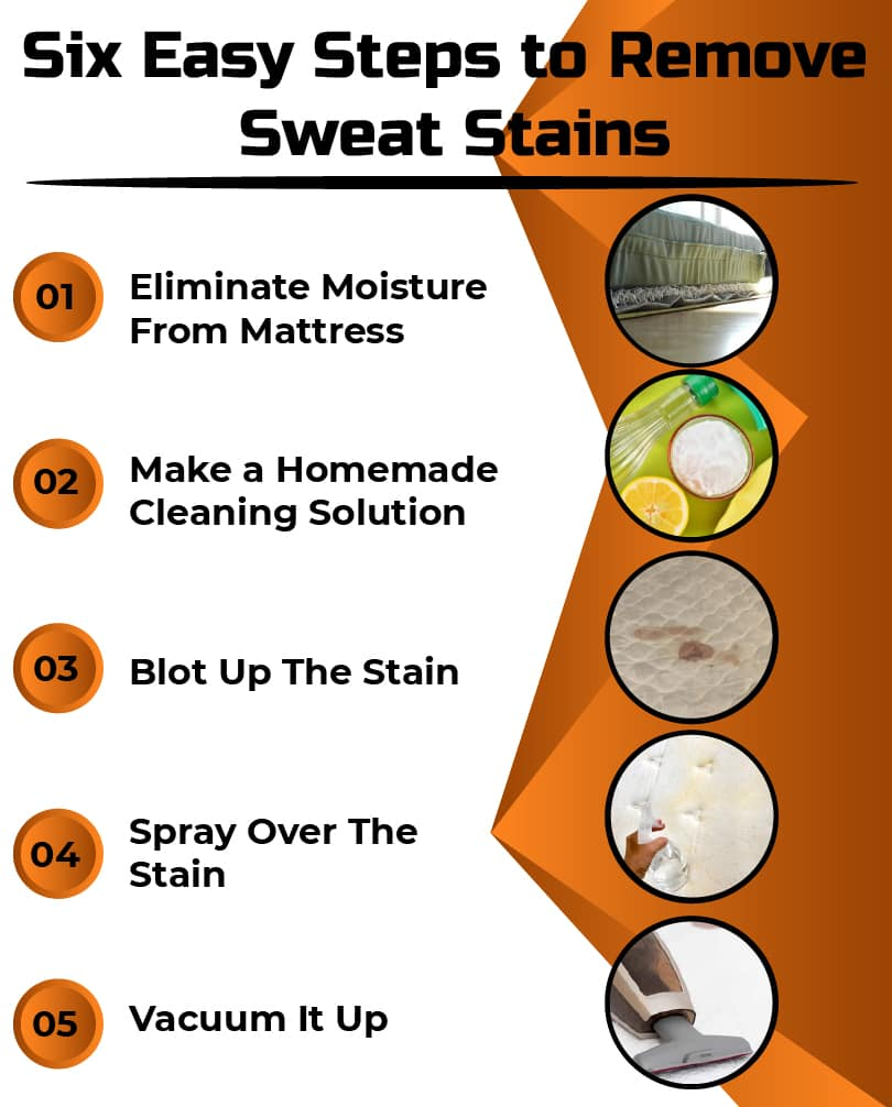 How to Remove Sweat Stains from The Mattress